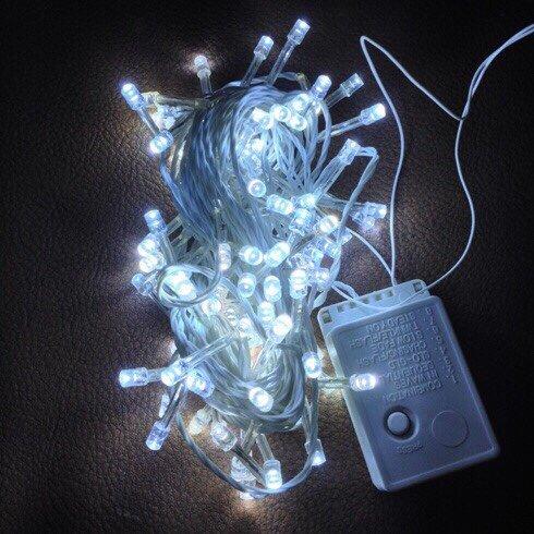 dây đèn trang trí noel màu trắng