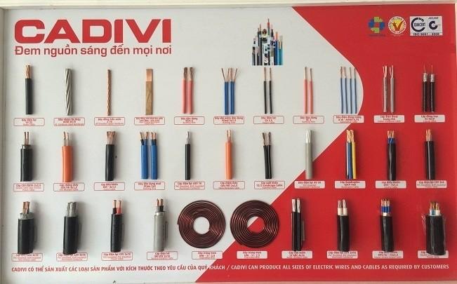 bảng mẫu dây điện cadivi