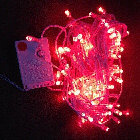 dây đèn trang trí noel màu đỏ
