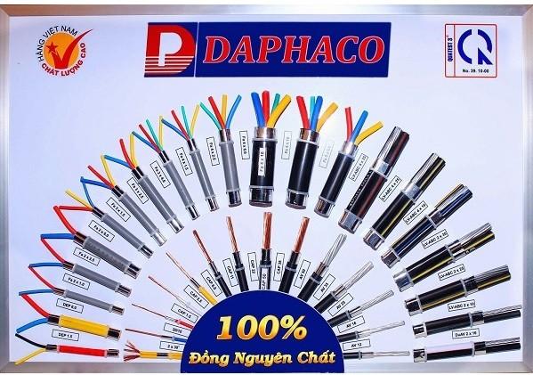bảng mẫu dây điện daphaco